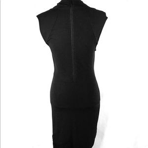 Tart Dresses - Tart Black Dress Small Ruched Draped Sleeveless